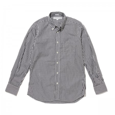 个性化的衬衫标准适合长袖 B.D 衬衫小方格布式检查黑色 (T45EBC)