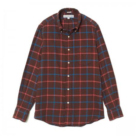 【 インディビジュアライズドシャツ 正規品 スタンダードフィット チェック ブラウン x オレンジ 】 INDIVIDUALIZED SHIRTS Standard Fit Long Sleeve B.D Shirt - CHECK BROWN x ORANGE (Y43TTP)