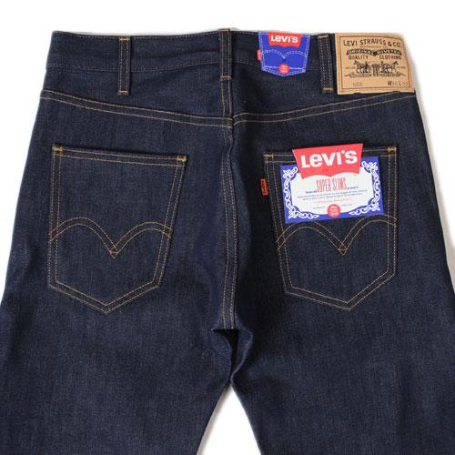 LEVI's 复古服装 606 牛仔裤 1960 年瘦 (30605 0030 刚性)