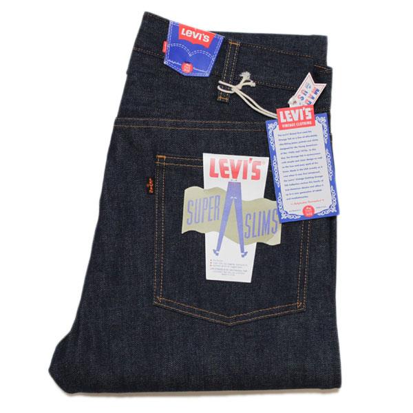 李维斯复古服装 606 超薄 20 世纪 60 年代紧身牛仔裤 (36060-0001 刚性)