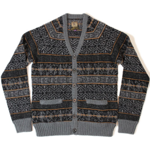 『PRPS』 Button Front Fair Isle Cardigan 【ピーアールピーエス ボタンフロント フェアアイルカーディガン】