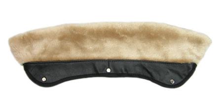 【 ショット ダブルライダース用襟ボア 日本別注カラー ナチュラル 】 Schott 618M Faux Fur Collar Attachement NATURAL