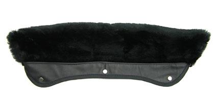 【 ショット ダブルライダース用 襟ボア ブラック 】 Schott 618M Faux Fur Collar Attachment BLACK