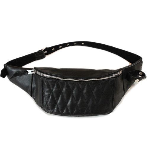 【 ショット パデッドボディバッグ ブラック 】 Schott PADDED BODY BAG BLACK