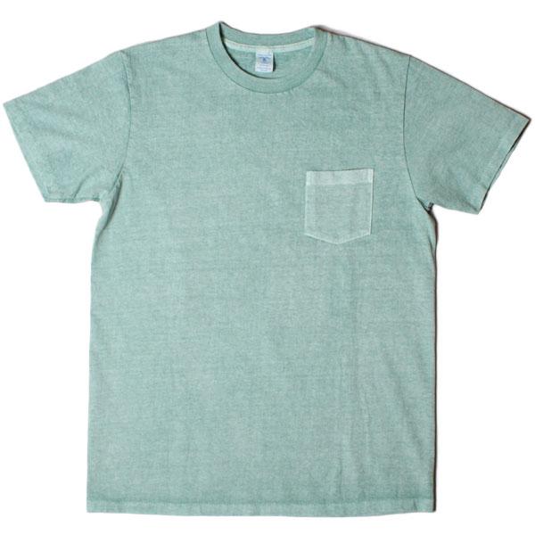 韦尔瓦光泽颜料染圆领 TEE w/口袋