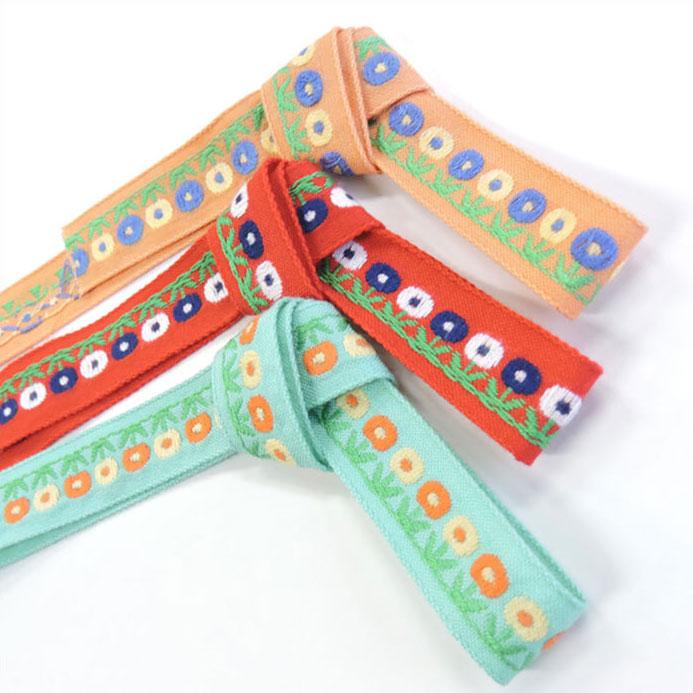 チロル テープ チロリアン 50m巻 全12色 手芸用 SHINDO 服飾用 リボン sic-2014