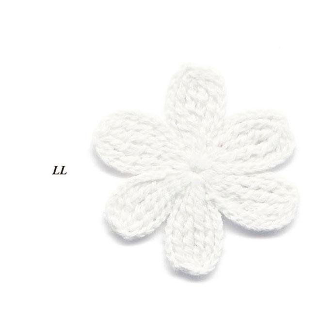 クロシェ モチーフ 花 LL 20個パック 全4色 SHINDO ファッション モチーフ パーツ 手作り 手編み SIC-3557
