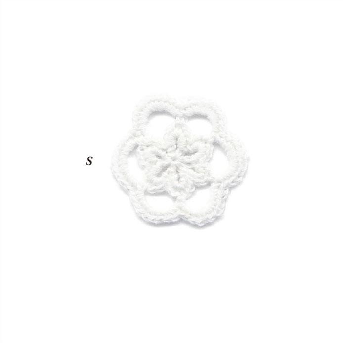 クロシェ モチーフ レース花 S 20個パック 全4色 SHINDO ファッション モチーフ パーツ 手作り 手編み SIC-3558