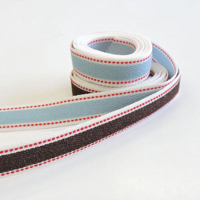 ストレッチ デニム テープ 18mm 30m巻 全4配色 手芸用 SHINDO リボン ジーンズ ステッチ SIC-2112-180