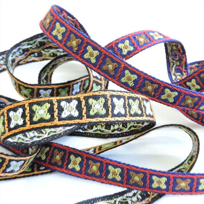 チロル テープ チロリアン 50m巻 15mm 全5色 手芸用 SHINDO 服飾用 リボン sic-2150