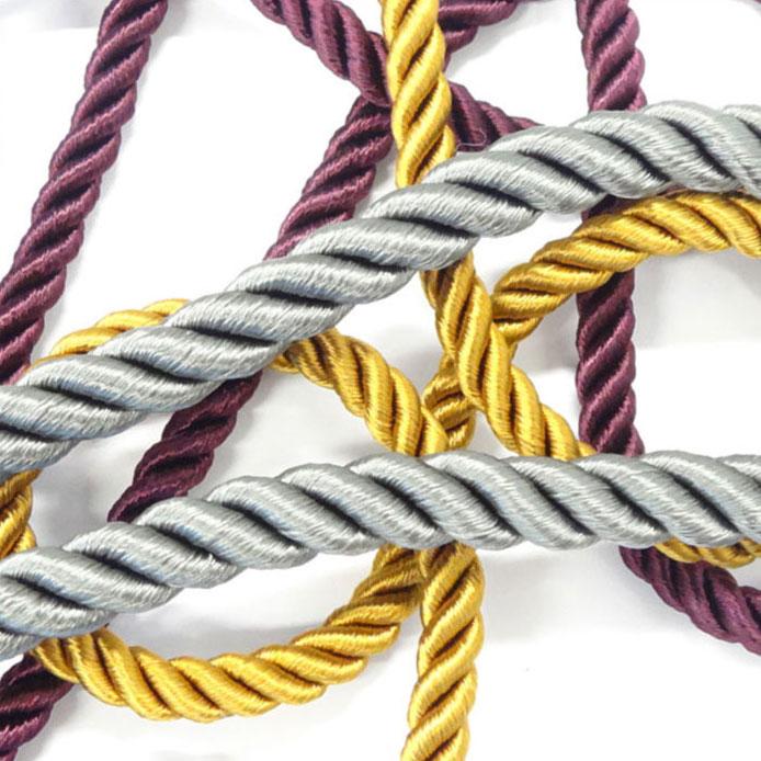 植物樹脂から作られたレーヨン原糸を使用したロープコードです レーヨン ツイスト コード 10mm 新着 メーター売 通販 激安 全16色 アパレル SHINDO ラッピング テープ 手芸用 SIC-3040-l