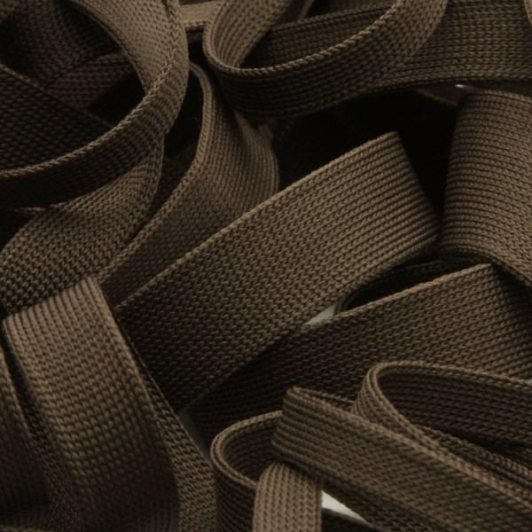 どんな生地とも相性 肌当たり良く柔らかな日本製ニットテープ 薄手ニットテープ 低価格 ポリエステル 12mm 予約販売品 ミッドナイトブラウン FUJIYAMA ラッピング 手芸 服飾 9.14M巻 RIBBON