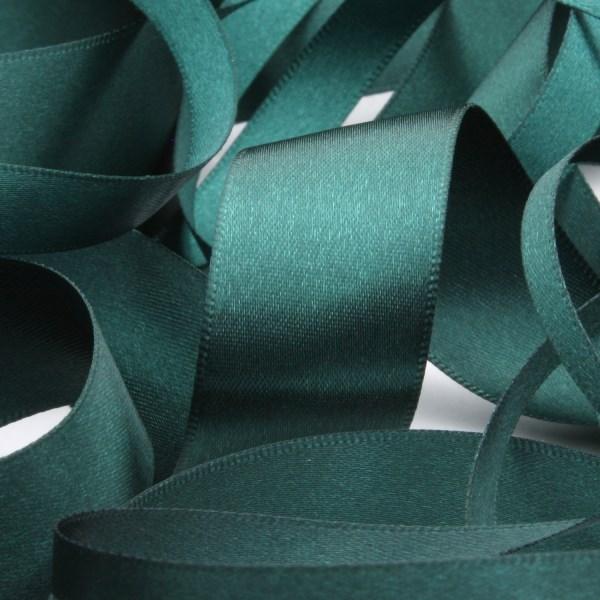 Polyester Double Face Satin Ribbon 36mm Dark Green 9 14 Meters Roll Fujiyama