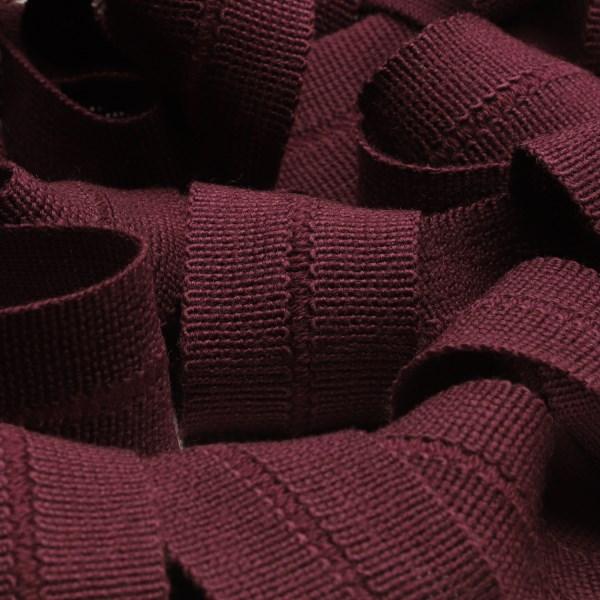 アウターや帽子 カバンの縁取りに最適 ウール製メートライン ニットバインダーテープ ウール 至上 13x13mm バーガンディー FUJIYAMA 手芸 9.14M巻 RIBBON バイアステープ メートライン 驚きの値段で 服飾
