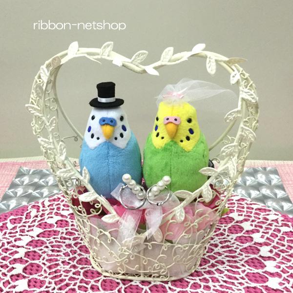 Ribbon net shop rakuten global market wedding bird budgerigars wedding bird budgerigars oh chan midori ring pillow with silk flower flowers fl wg 376 mightylinksfo