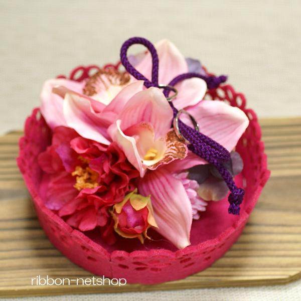 Ribbon net shop sakura felt trays and cymbidium orchid silk flower product description mightylinksfo