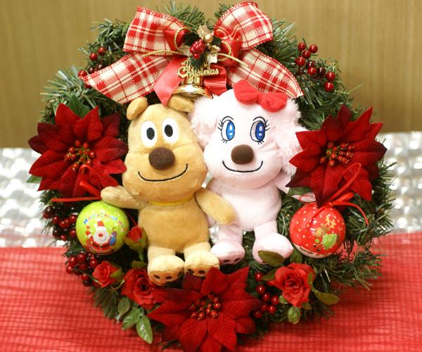 Ribbon net shop rakuten global market christmas wreath 30 cm christmas wreath 30 cm anpanman cheese cream cheese chan mascot with silk flowers artificial lease fl ch 412 mightylinksfo