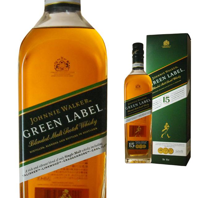[箱入] ジョニーウォーカー グリーンラベル 15年 43度 700ml【ギフト お酒 プレゼント 洋酒 スコッチウイス