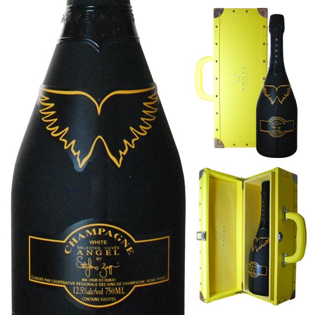 [送無][ボックス入] エンジェルシャンパン ヘイロー イエロー ブリュット 750ml【ワインならリカオー】