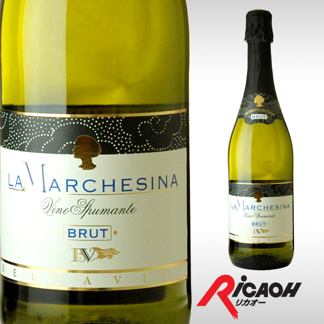 La marchesina Brut 750 ml (Liquor gifts and greeting cards of the year's new year's Christmas presents dinner men women boyfriend he her homecoming souvenir gift 内 祝 I retirement thank you birthday wedding sparkling wine Italy dry sparkling wine Italy)