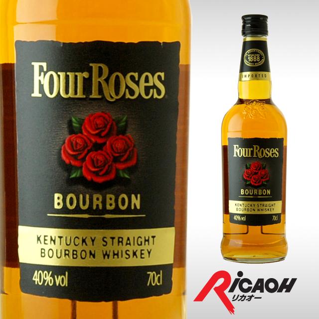 四个玫瑰黑色 40 700 毫升 (酒酒威士忌酒,波本威士忌波旁威士忌酒生日礼物礼物男性女性男友庆祝她聚会晚餐婚礼纪念日阵亡将士纪念日方位祝我返回)
