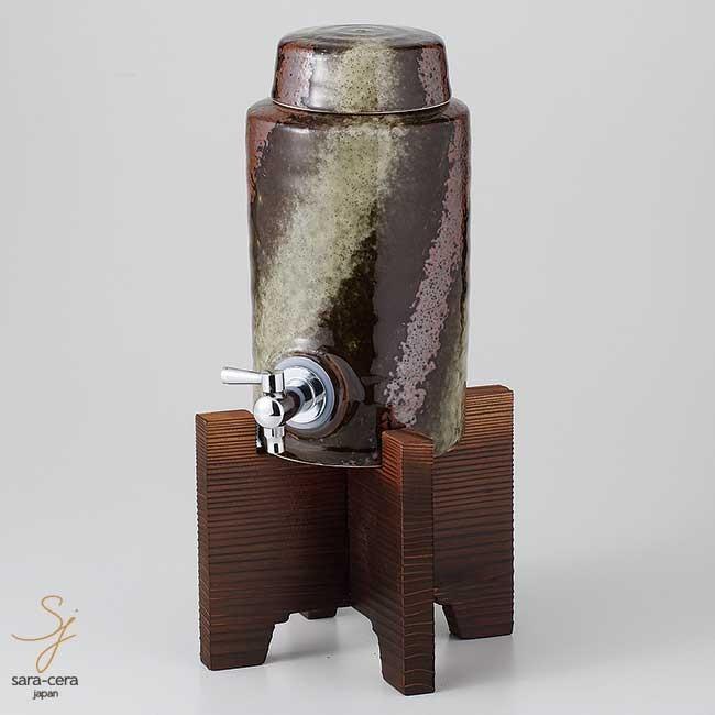 美濃焼 黒伊賀ラジウム5号サーバー 900cc コルク栓付 酒器 和食器 食器