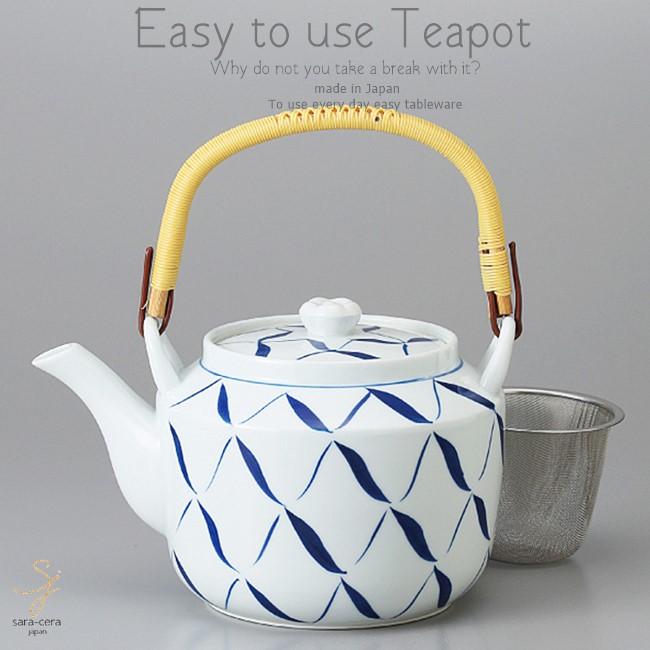 和食器 有田焼 美味しい お茶 手描網 1600 土瓶 ティーポット 茶漉し付 茶器 食器 緑茶 紅茶 ハーブティー おうち うつわ 陶器 日本製