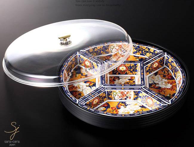 和食器 牡丹花鳥フード付オードブル 39×8 おうち うつわ カフェ 食器 陶器 日本製 美濃焼 大皿 インスタ映え