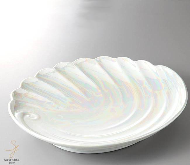 和食器 有田焼ラスターあわび盛込皿 41×33×6.7 おうち うつわ カフェ 食器 陶器 日本製 大皿 インスタ映え