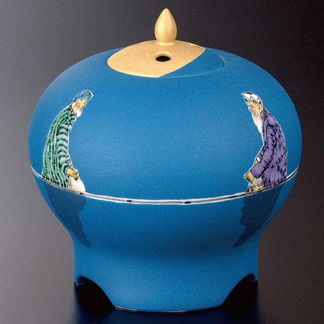 九谷焼 5.2号香炉 色絵 遠い日香器 静座 和食器 日本製 ギフト おうち ごはん うつわ 陶器