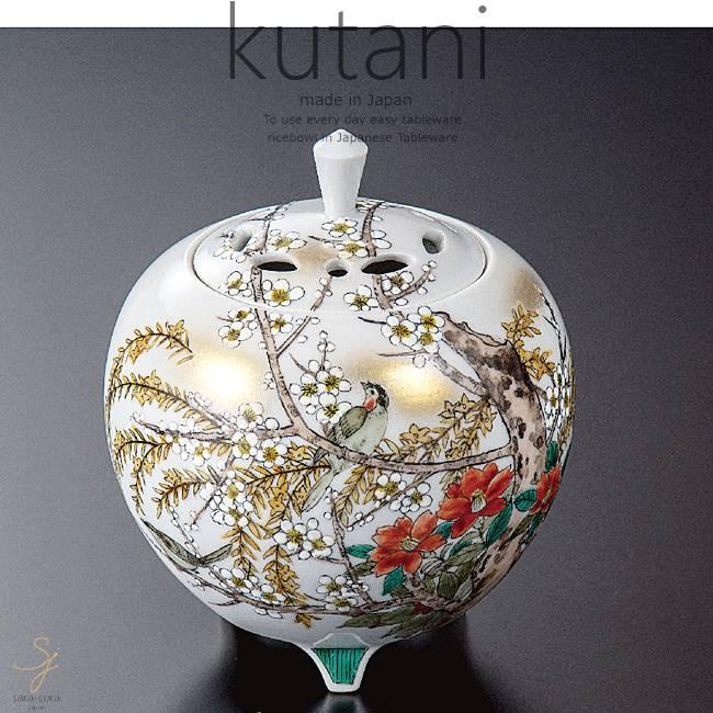 九谷焼 4.5号香炉 花鳥図 和食器 日本製 ギフト おうち ごはん うつわ 陶器