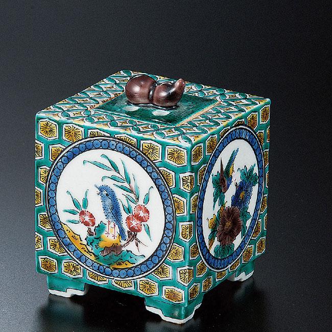 九谷焼 2.5号香炉 古九谷間取 和食器 日本製 ギフト おうち ごはん うつわ 陶器