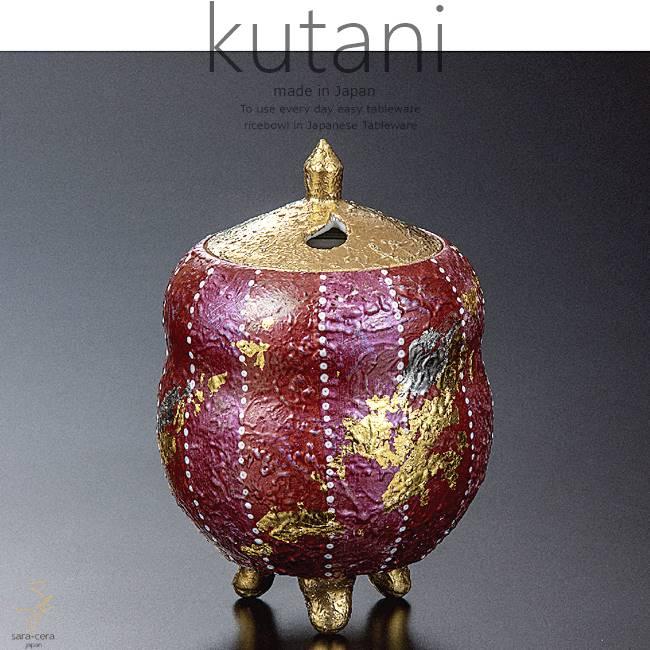 九谷焼 3.5号香炉 赤彩 和食器 日本製 ギフト おうち ごはん うつわ 陶器