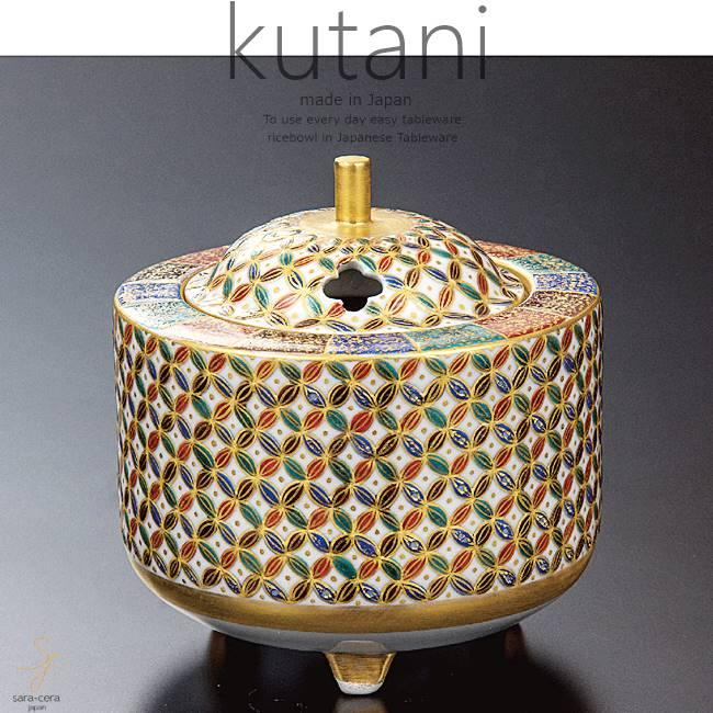 九谷焼 3号香炉 五彩小紋 和食器 日本製 ギフト おうち ごはん うつわ 陶器
