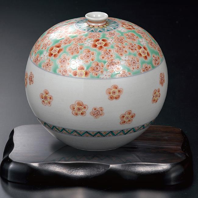 九谷焼 4号飾壷 梅詰 和食器 日本製 ギフト おうち ごはん うつわ 陶器