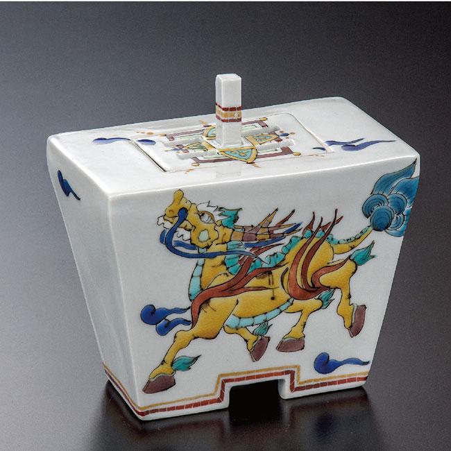 九谷焼 4.2号香炉 麒麟 和食器 日本製 ギフト おうち ごはん うつわ 陶器
