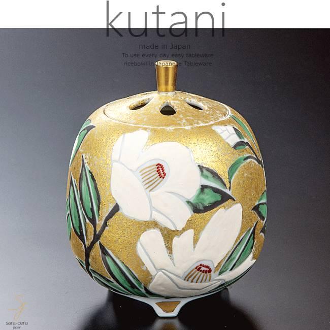 九谷焼 4.2号香炉 金箔彩椿文 和食器 日本製 ギフト おうち ごはん うつわ 陶器