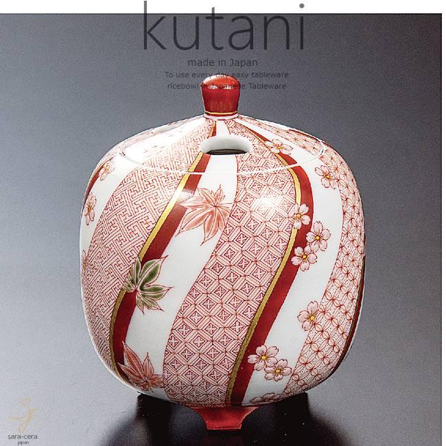 九谷焼 2.8号香炉 赤絵春秋文 和食器 日本製 ギフト おうち ごはん うつわ 陶器
