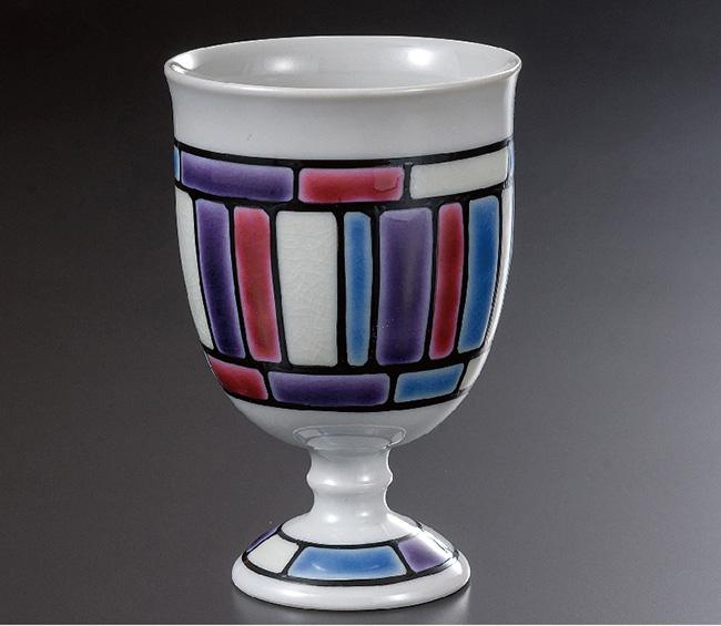 九谷焼 馬上杯 彩 和食器 日本製 ギフト おうち ごはん うつわ 陶器