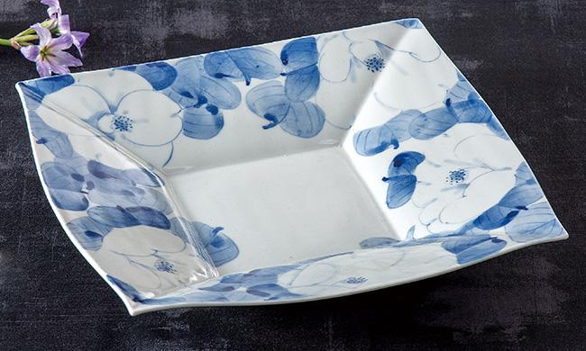 九谷焼 8.5号 盛皿 お料理 プレート 皿 白椿 和食器 日本製 ギフト おうち ごはん うつわ 陶器