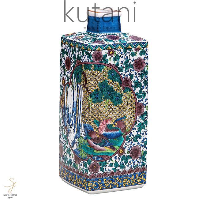 九谷焼 8号花瓶 花鳥文 和食器 日本製 ギフト おうち ごはん うつわ 陶器