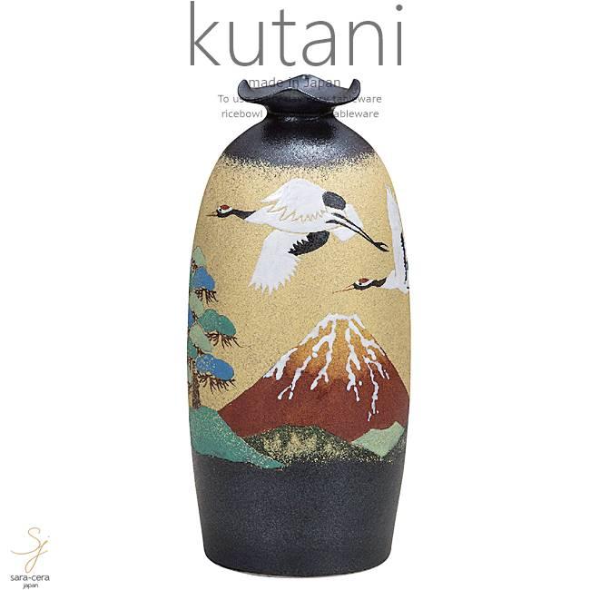 九谷焼 8.5号花瓶 赤富士に鶴 和食器 日本製 ギフト おうち ごはん うつわ 陶器