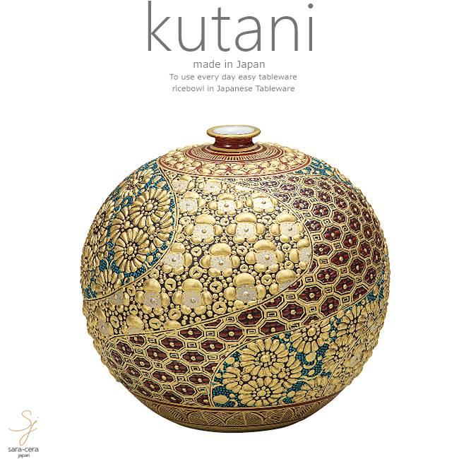 九谷焼 5号花瓶 本金盛割取小紋 和食器 日本製 ギフト おうち ごはん うつわ 陶器