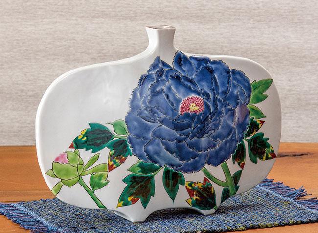 九谷焼 11号華器 吉祥牡丹 和食器 日本製 ギフト おうち ごはん うつわ 陶器