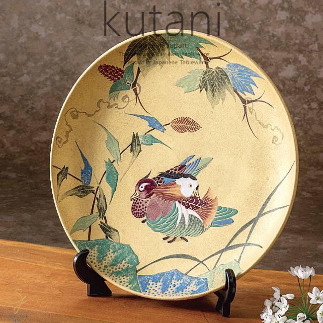 九谷焼 10号飾プレート 皿 おしどり 和食器 日本製 ギフト おうち ごはん うつわ 陶器