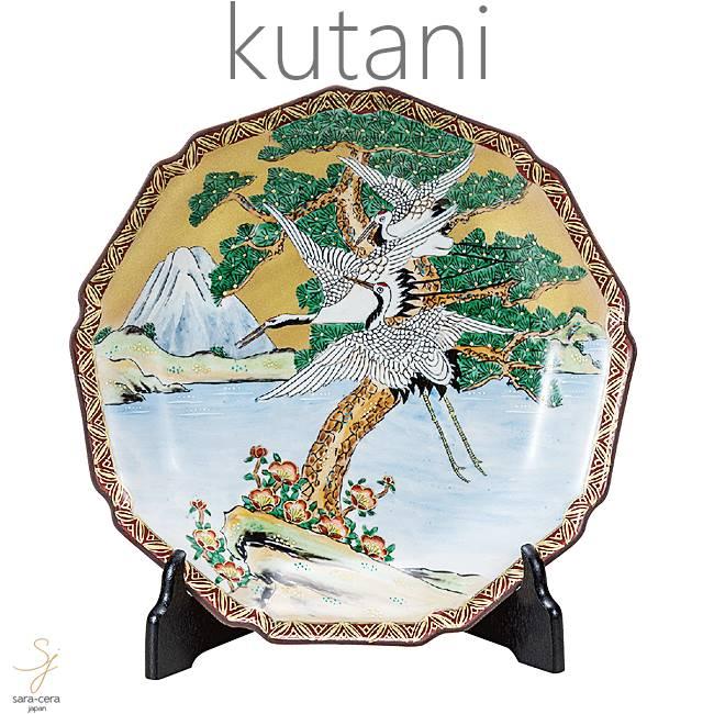 九谷焼 10号飾プレート 皿 富士に鶴 和食器 日本製 ギフト おうち ごはん うつわ 陶器