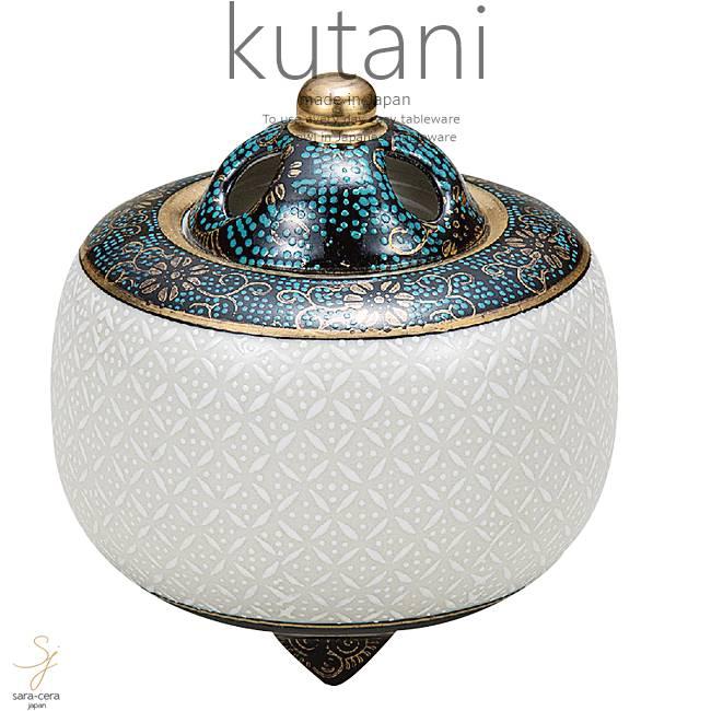 九谷焼 3.2号香炉 白七宝 和食器 日本製 ギフト おうち ごはん うつわ 陶器