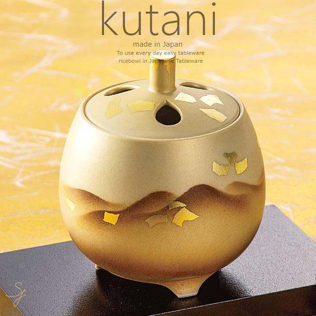 九谷焼 3.5号香炉 金彩連山 ※台は含みません。 和食器 日本製 ギフト おうち ごはん うつわ 陶器