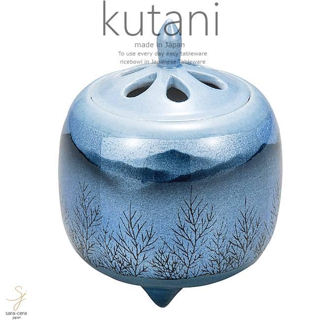 九谷焼 3.8号香炉 銀箔釉木立連山 和食器 日本製 ギフト おうち ごはん うつわ 陶器