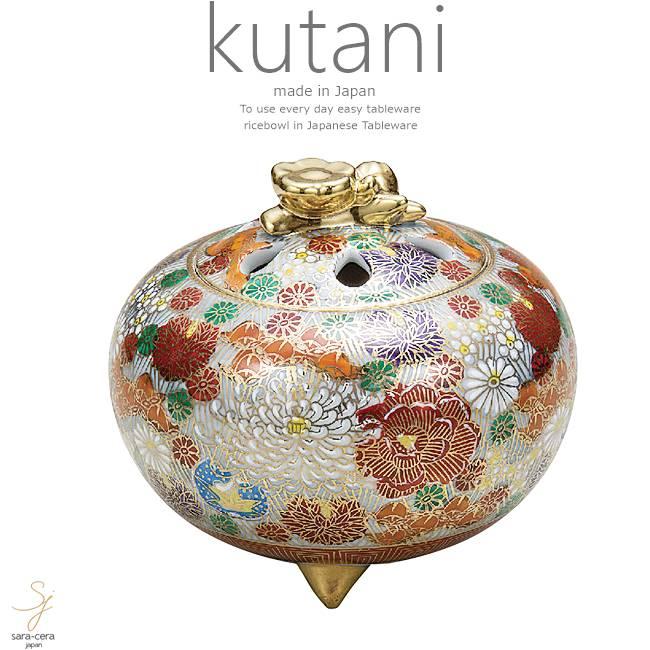 九谷焼 4号香炉 金花詰 和食器 日本製 ギフト おうち ごはん うつわ 陶器